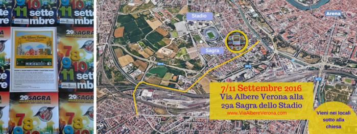 via Albere Verona antica Postumia e necropoli romana alla sagra dello Stadio a Verona